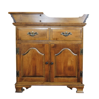 American Colonial Style Wooden Dry Sink, Late 20th Century