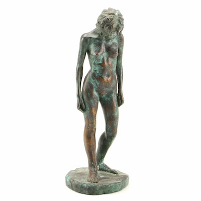 Ricardo Ponzanelli Nude Female Bronze Sculpture