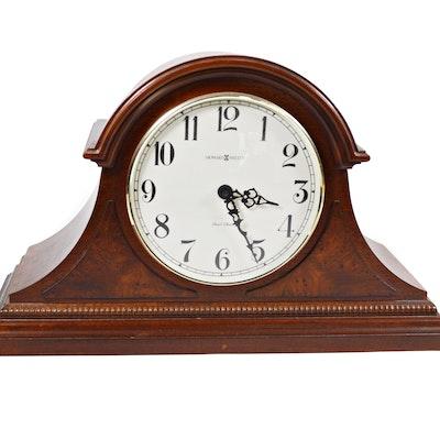 Howard Miller Burl Accent Dual Chime Mantel Clock