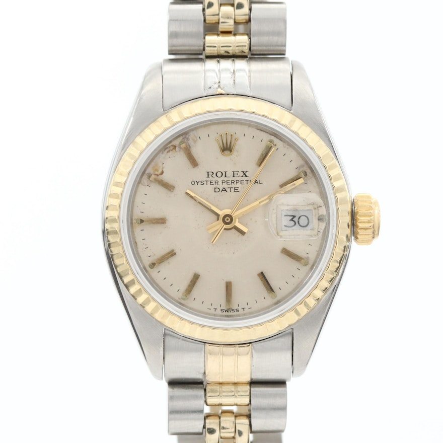 Vintage Rolex Two-Tone Oyster Perpetual Wristwatch