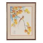 Harlan Lam Gouache Painting of Bird