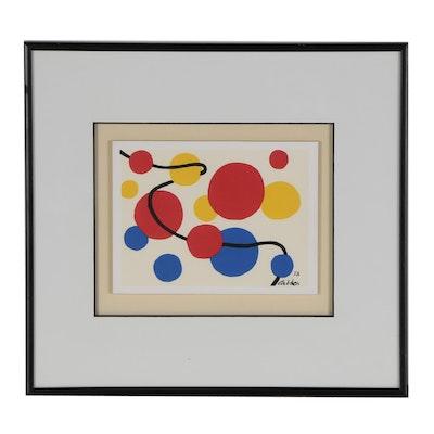 Abstract Geometric Serigraph after Alexander Calder