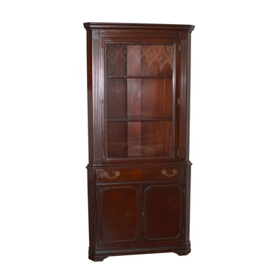 Craddock Mahogany Corner Cabinet, Vintage