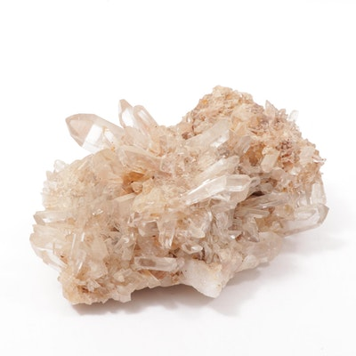 Pink Needle Quartz Cluster Mineral Specimen