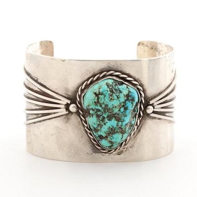Southwestern Style Turquoise Sterling Silver Cuff Bracelet