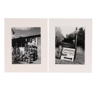 "John B. Chewning Silver Gelatin Photographs ""Stud Pumpkins"" and ""Turkey Shoot"""