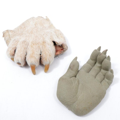 "Werewolf Hand Form and Hand Prosthesis Props from ""True Blood"""