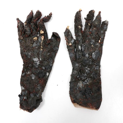"Burnt Vampire Prosthetic Gloves from HBO Series ""True Blood"""