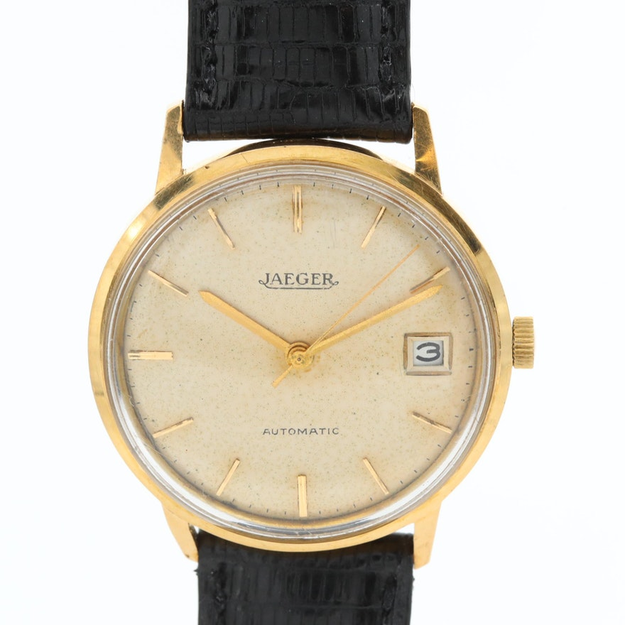 Vintage Jaeger LeCoultre 18K Yellow Gold Automatic Wristwatch