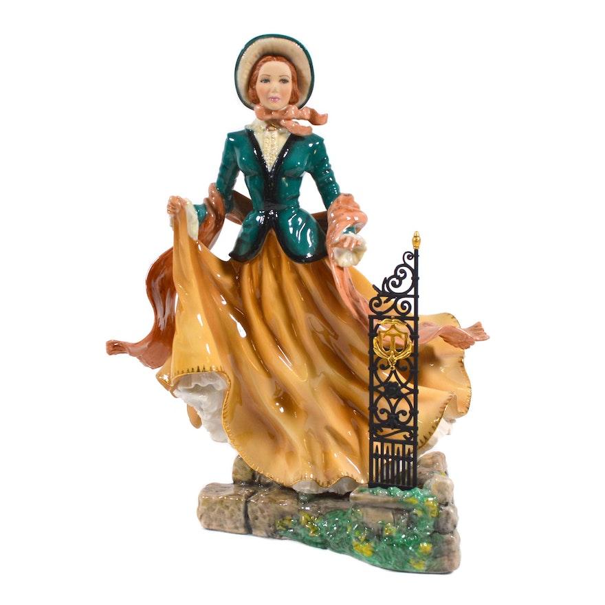 """Franklin Mint Charlotte Bronte's """"Jane Eyre"""" Porcelain Figurine"""