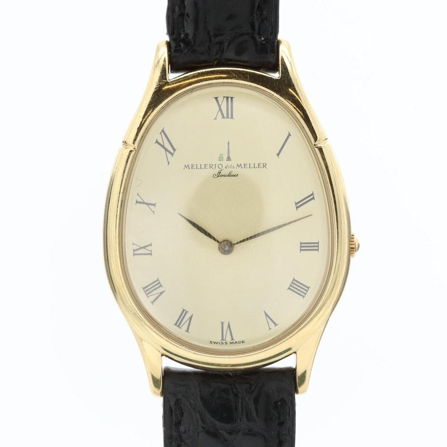 Mellerio dits Meller Neuf 18K Yellow Gold Quartz Wristwatch