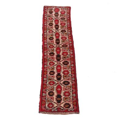 1'3 x 5'1 Hand-Knotted Persian Kurdish Wool Runner, 1940s