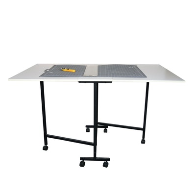 Portable Craft Table with Rotary Cutting Mat and Rotary Cutter