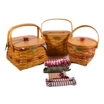 Longaberger Christmas Collection and 1994 Edition Handwoven Baskets