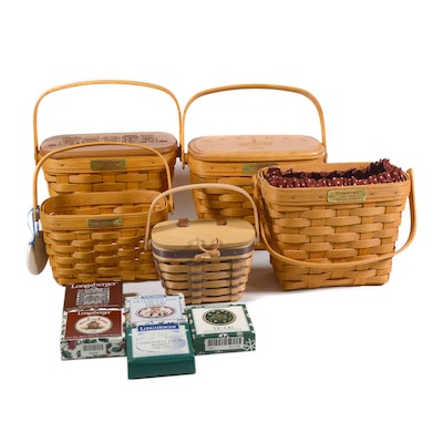 "Longaberger ""Dresden"" Basket, Other Baskets and Accessories"