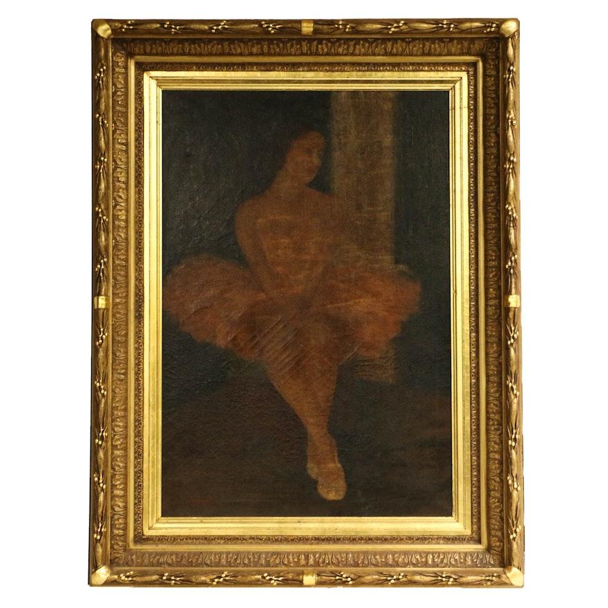 Oil Painting of Ballerina