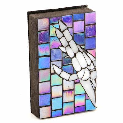 """Elaine Kohler """"Skeleton Hand"""" Mosaic Tile Wall Art"""
