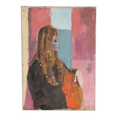 "Luise Rainer Oil Painting ""Portrait of a Woman"""