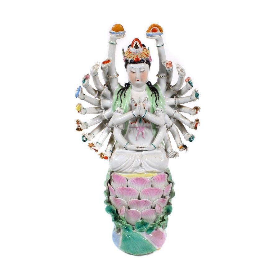 Indian God Ganesha Porcelain Figurine