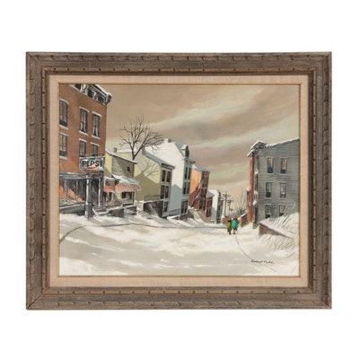 """Robert Fabe Hand Embellished Offset Lithograph """"March Morning"""""""