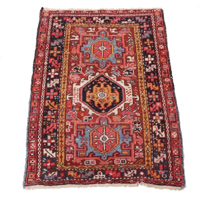 3' x 4'4 Hand-Knotted Persian Karajeh Wool Rug, 1930s