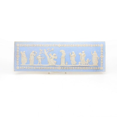 Wedgwood Style Faïence Tile with Grecian Relief Scene