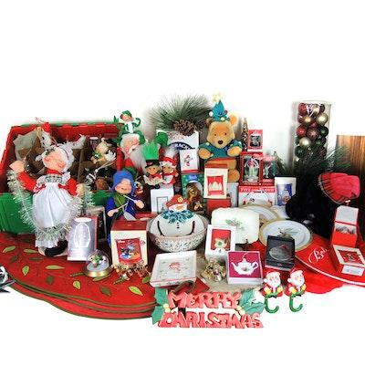 Christmas Ornaments and Decor with Tree Skirts, Hallmark Keepsake, Annalee Dolls