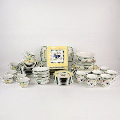 "Villeroy & Boch ""French Garden Fleurence"" Porcelain Dinnerware, Late 20th C."