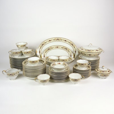 Meito China Porcelain Dinnerware, 1940s