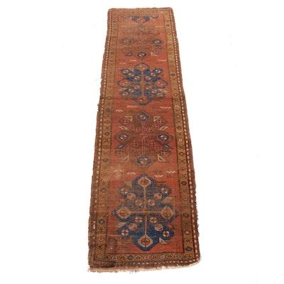 2'3 x 8'10 Hand-Knotted Persian Heriz Bakhshayesh Runner Rug, circa 1900