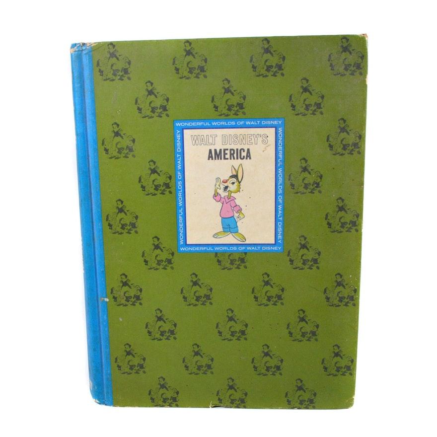 """The Wonderful Worlds of Walt Disney: America"" Book, 1965"