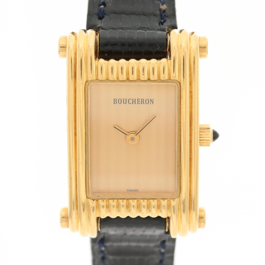 Boucheron Reflet 18K Yellow Gold Quartz Wristwatch