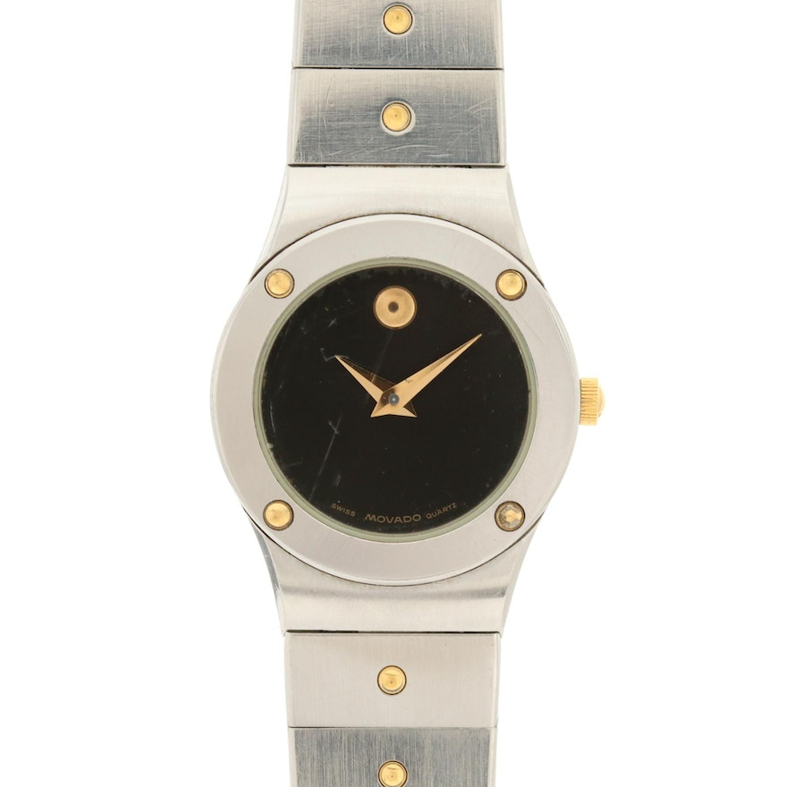 Movado Museum Two-Tone Quartz Wristwatch