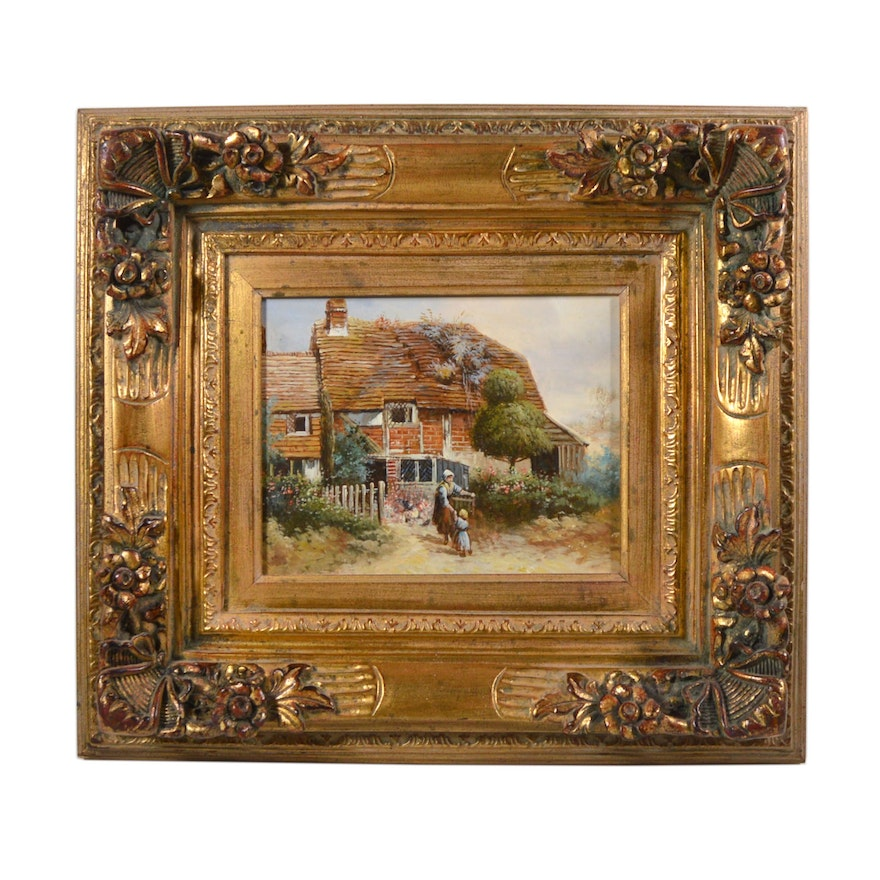 20th Century Oil Painting of Homestead