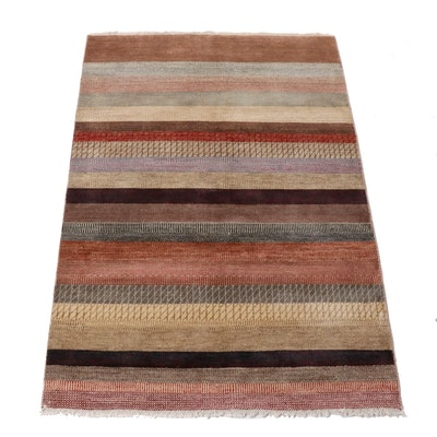 4' x 5'10 Hand-Knotted Indo-Persian Gabbeh Rug