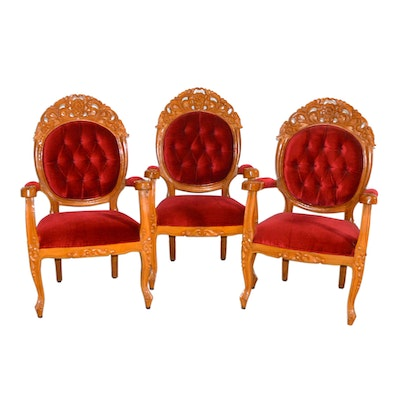 Indonesian Chairs, Set of Three, Vintage