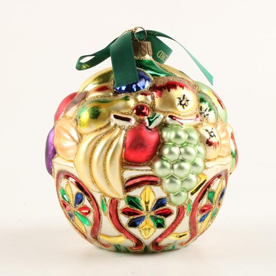 """Waterford Nostalgic Collection """"Bountiful"""" Blown Glass Ornament"""