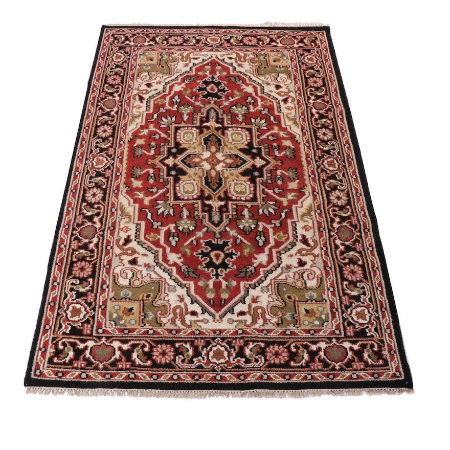 5' x 8' Hand-Knotted Indo-Persian Heriz Serapi Rug