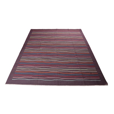 10'3 x 13'11 Handwoven Turkish Kilim Room Size Rug