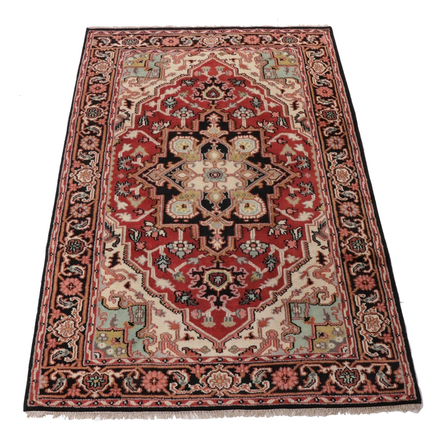 6' x 9'2 Hand-Knotted Indo-Persian Heriz Serapi Rug