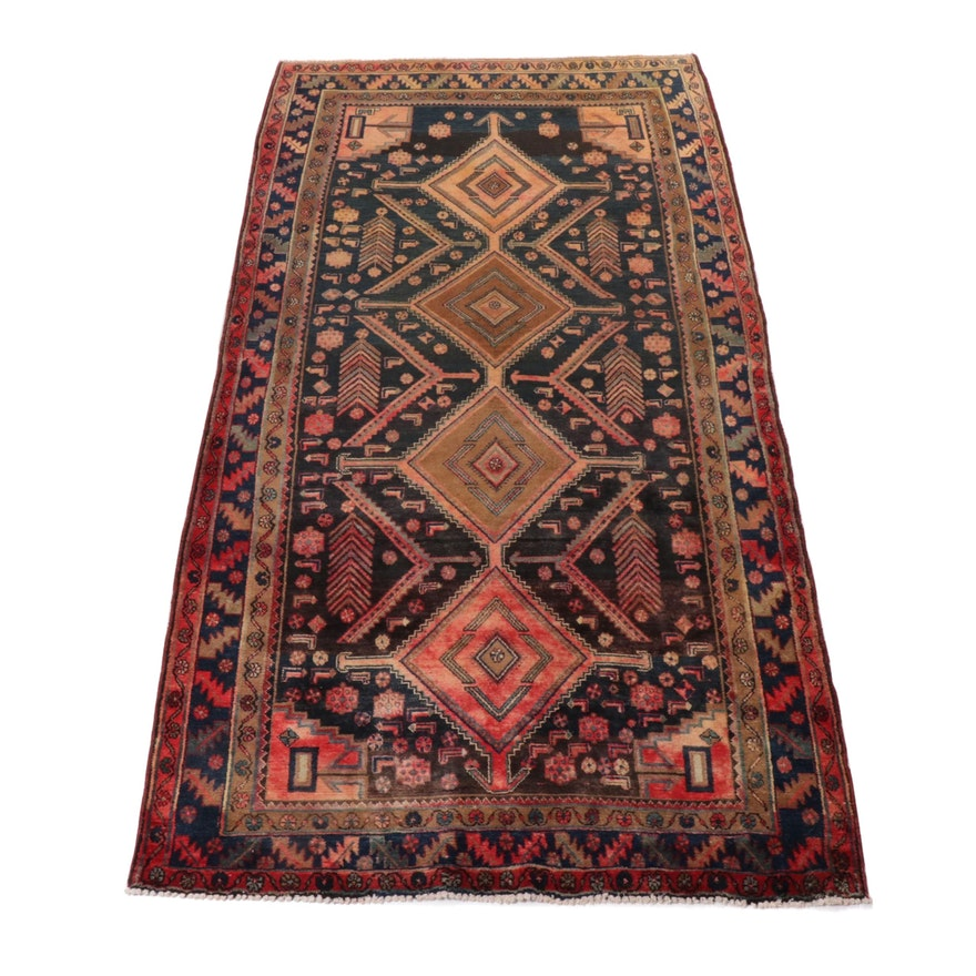 4'11 x 9'9 Hand-Knotted Northwest Persian Wool Rug, 1950s