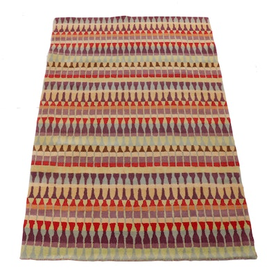 5'1 x 7'10 Hand-Tufted Indian Modernist Style Rug