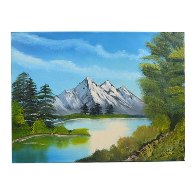 Samantha Summers Oil Painting of Mountain Landscape