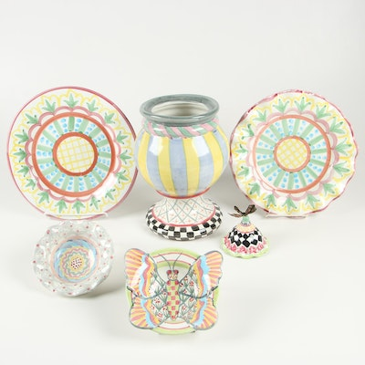 """MacKenzie-Childs """"Madison"""" Ceramic Dinnerware and Other Table Accessories"""