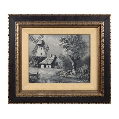 Wauters Oil Panting of Windmill