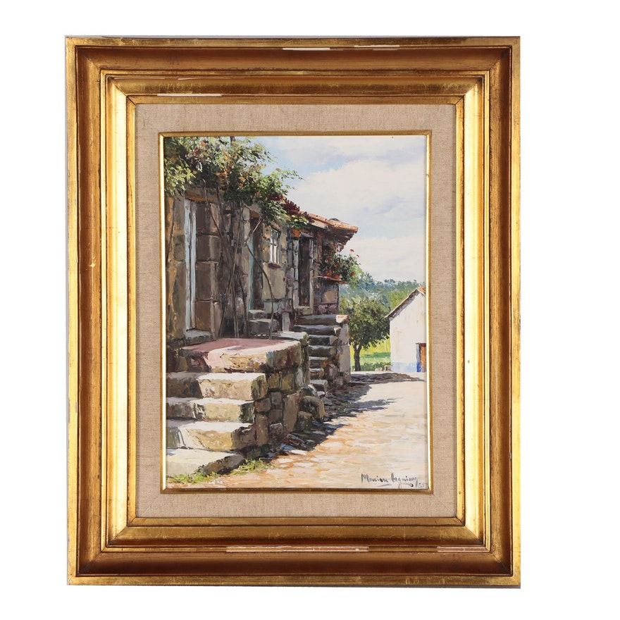 "Oil Painting ""Idanha-a-Velha"", 1985"