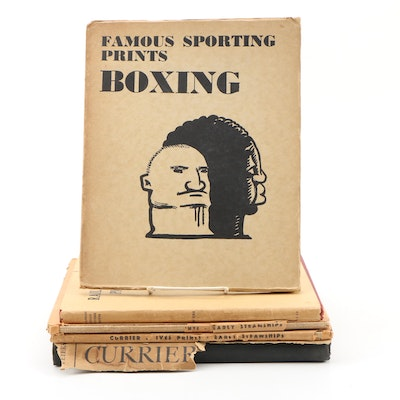 "Review Copy ""Famous Sporting Prints: Boxing"" with Currier & Ives Print Books"
