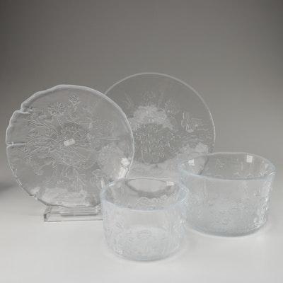 "Kosta Boda ""Ulla"" Glass Serveware"