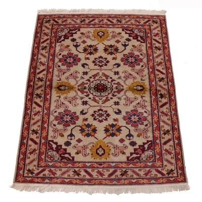2'11 x 4' Hand-Knotted Caucasian Kazak Wool Rug, 1960s