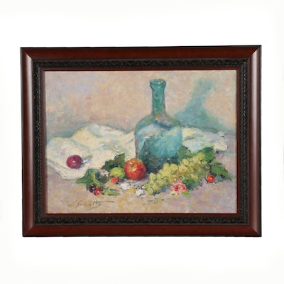 William Schultz Still Life Oil Painting
